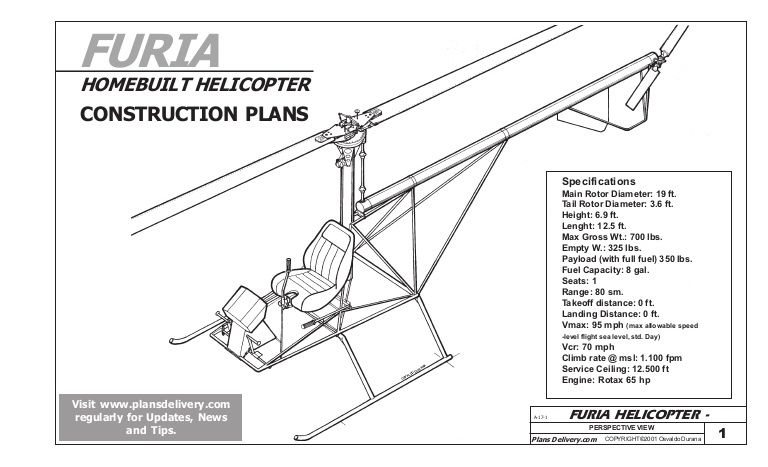 Furia Ultralight Helicopter Plans Ultralight Helicopter Helicopter Helicopter Kit
