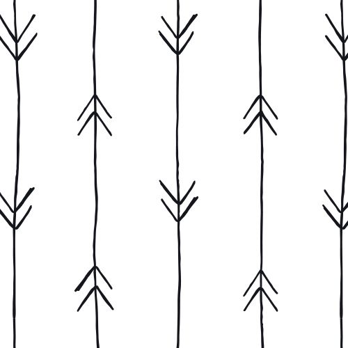 Black & White Arrow Print Repeat Pattern Wallpaper