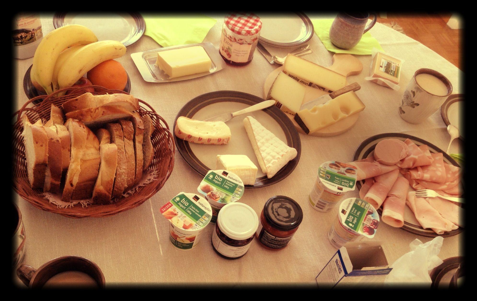 Traditional Swiss breakfast. LATER | Food, Desserts, Recipes