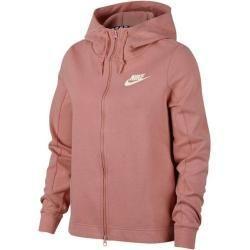 Nike Damen Sweatjacke Optic Fleece, Größe L in Braun