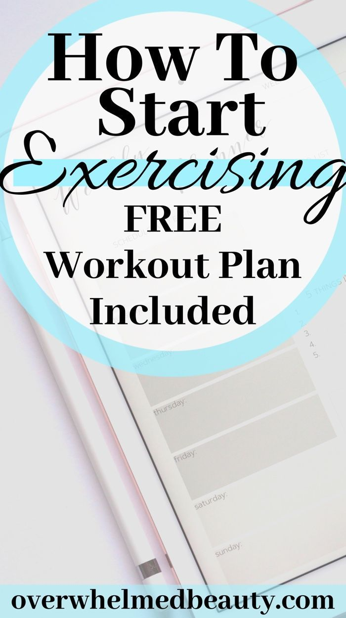 How To Start Exercising. With a Free Workout Plan Included to help you get started on your fitness j...