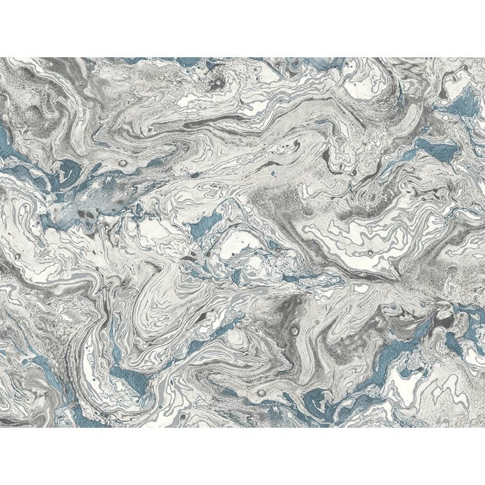 Lillian August Luxe Haven Lunar Rock And Cerulean Faux Marble Peel And Stick Wallpaper Covers 40 5 Sq Ft Ln21002 The Home Depot Faux Marble Stone Wallpaper Peel And Stick Wallpaper