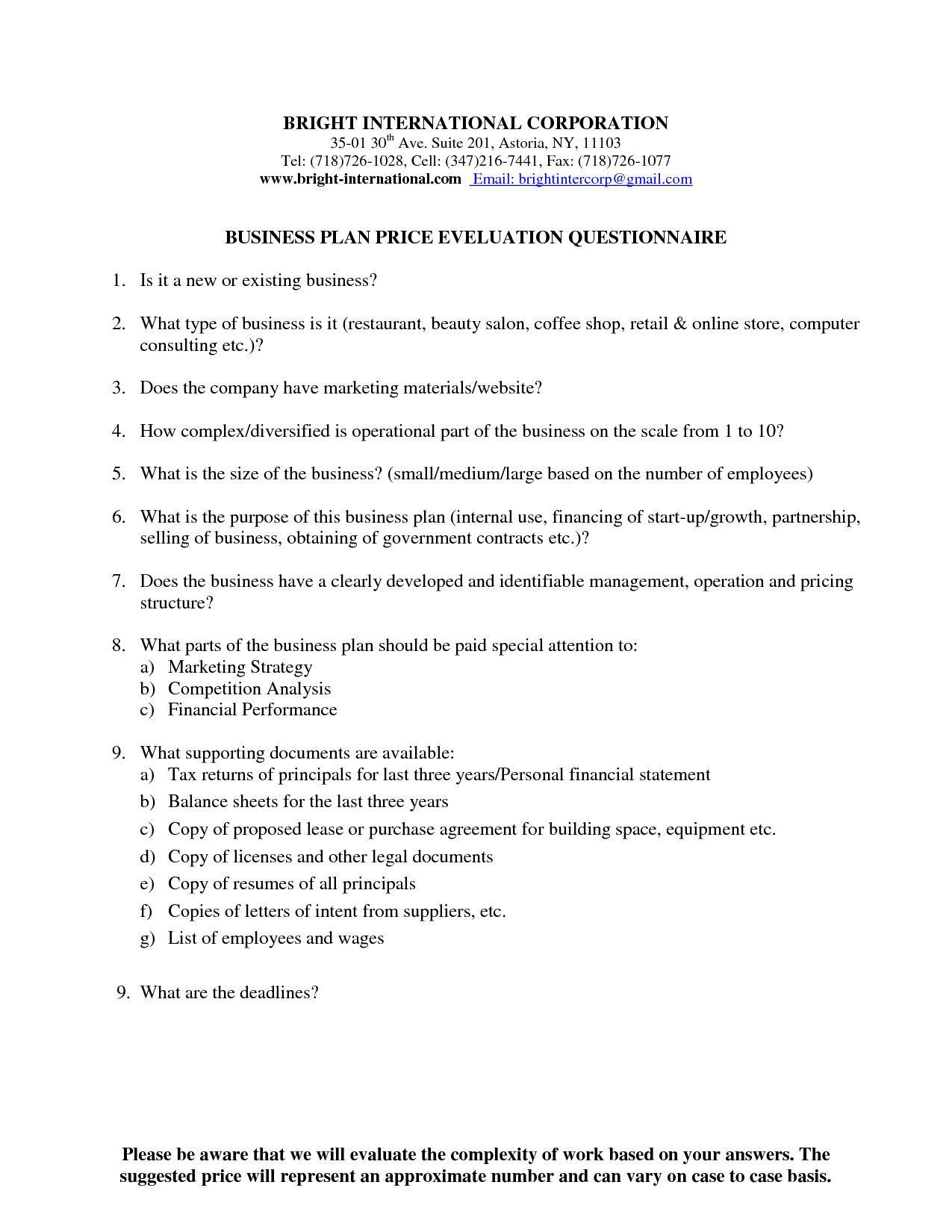 free retail business plan sample pdf