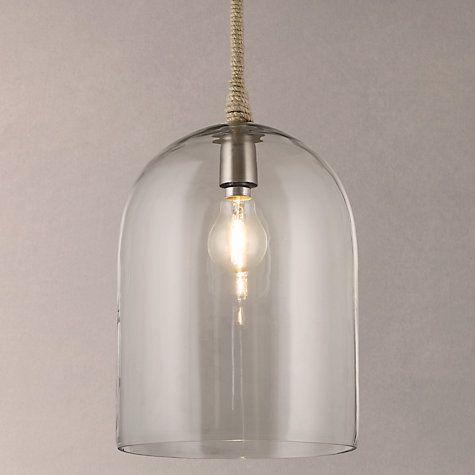 Buy John Lewis Cloche Glass Pendant Ceiling Light Online