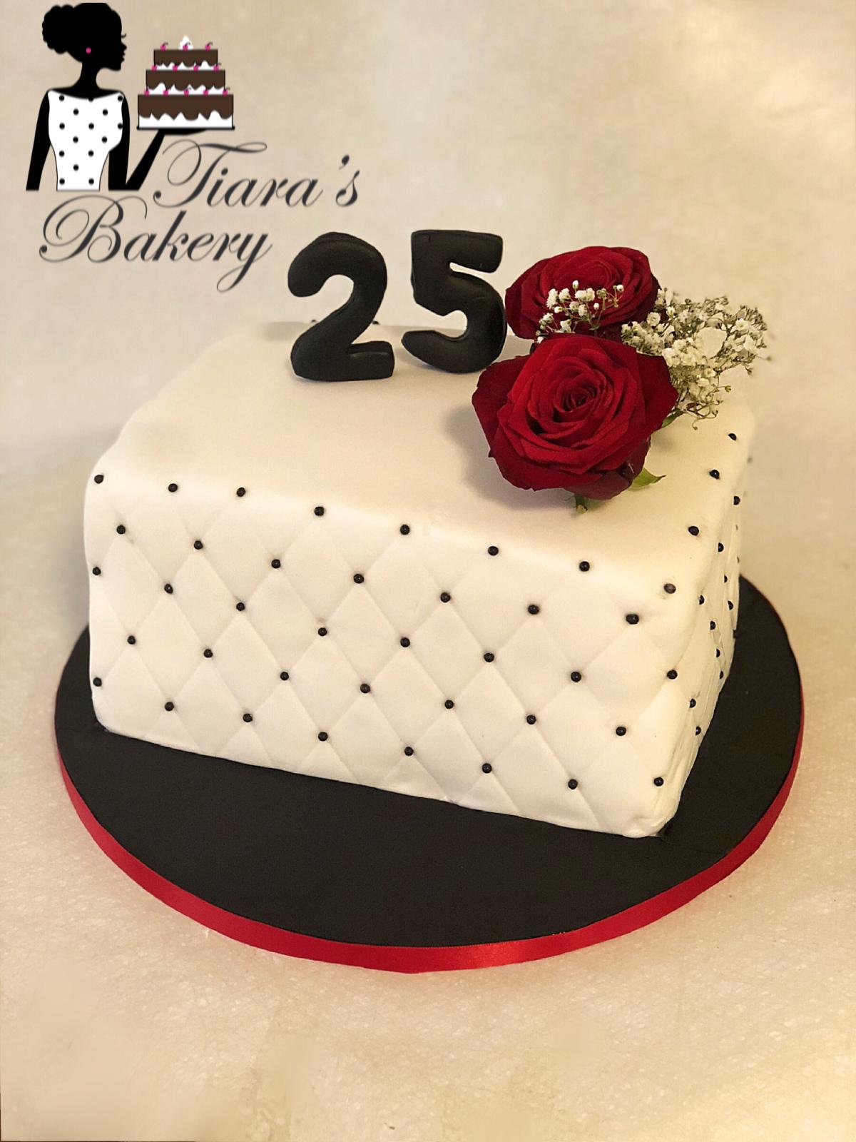 Prime Simple Elegant Cake Elegant Cake 25Th Birthday 25Th Birthday Birthday Cards Printable Benkemecafe Filternl