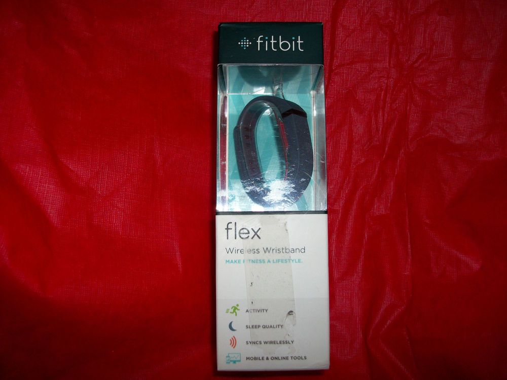 """$79.99 FREE SHIPPING NEW Fitbit Flex """"Slate"""" Wireless Activity Life Wristband Tracker Pedometer BLUE #Fitbit #HEALTH #HEALTHY #ACTIVITYTRACKER"""
