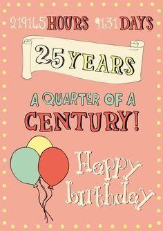 Wonderbaar Verjaardag 25 jaar (met afbeeldingen) | 25ste verjaardag VX-94