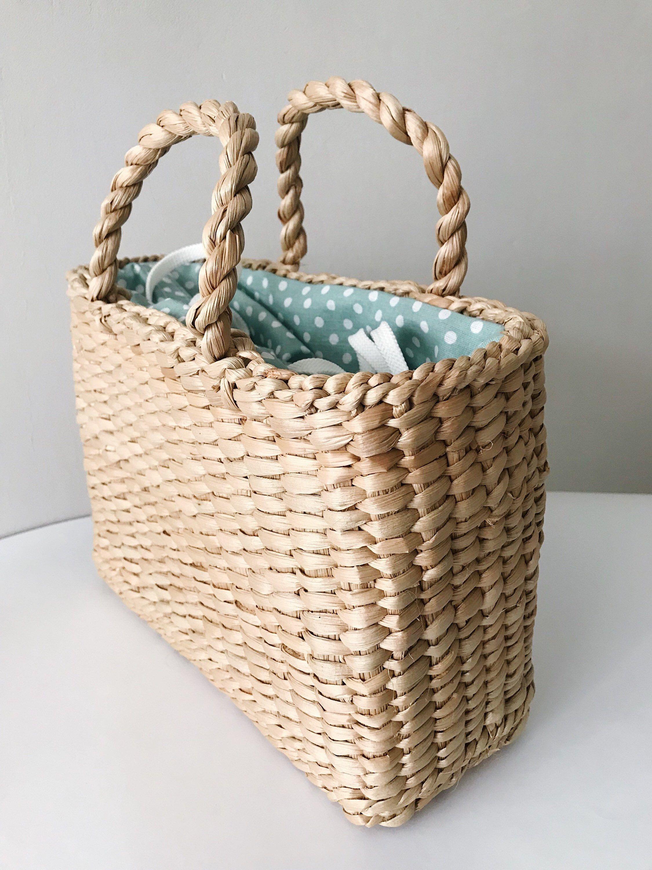 Straw bag, Straw handbag, Straw basket, Beach bag, Straw tote
