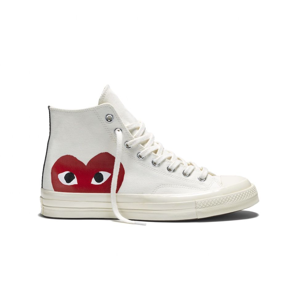 The union between Converse and PLAY COMME des GARÇONS has a new four piece  sneaker collection for the spring/summer 2015 season. The sneaker of choice  for