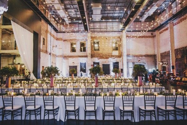 Cheap Wedding Ceremony And Reception Venues Mn: Modern Minneapolis Warehouse District Wedding