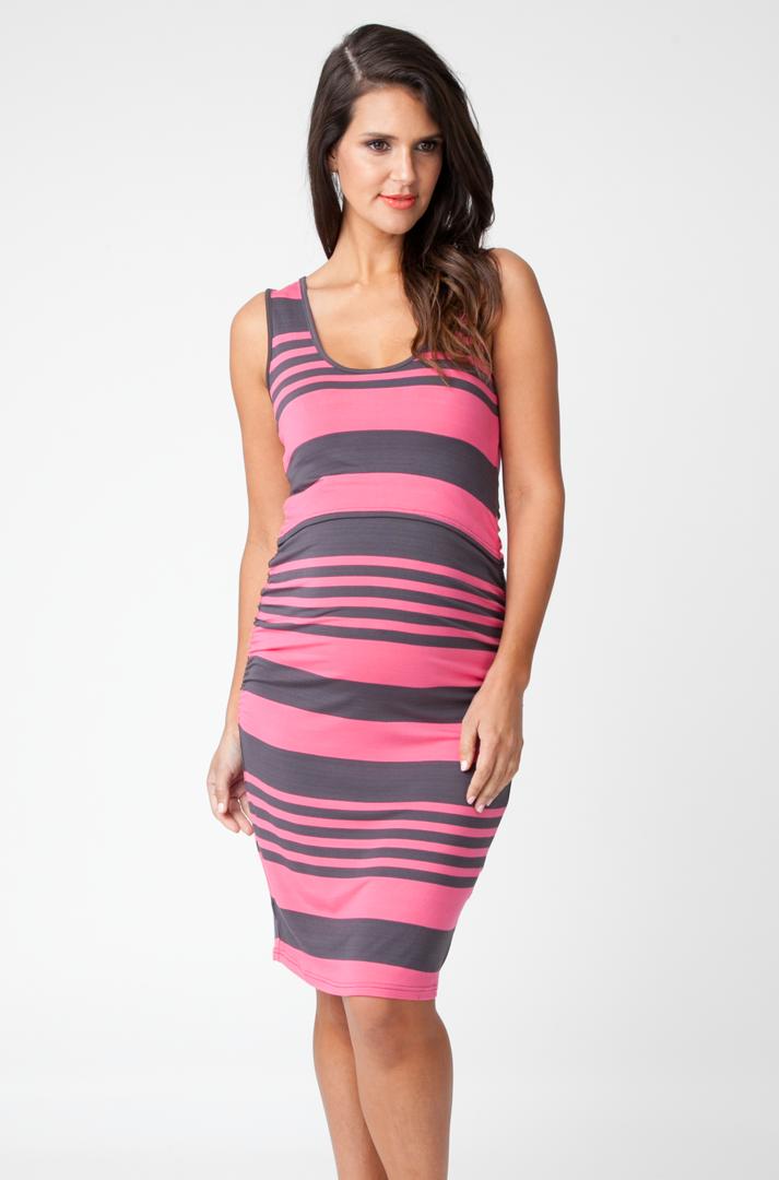 988670ab76 Ripe Stripe Nursing Tube Dress - Breast Feeding - Mummyliciouswear Maternity  Clothes Nursing Wear