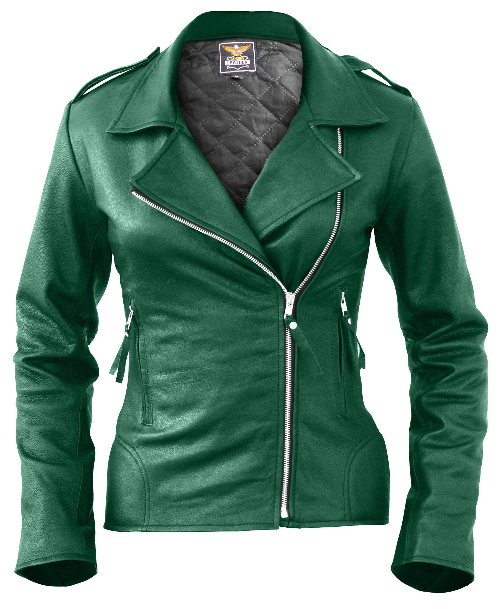 Leather Skin Women Green Brando Genuine Leather Jacket Green Leather Jackets Genuine Leather Jackets Leather Jackets Women [ 2000 x 1655 Pixel ]