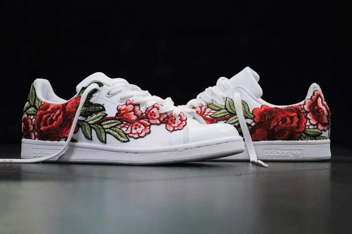 b32e36f070ab The adidas Stan Smith Flowerbomb by FRE Customs is Everything - MISSBISH