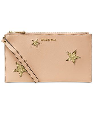 MICHAEL Michael Kors Peek A Boo Large Zip Clutch - Handbags & Accessories - Macy's