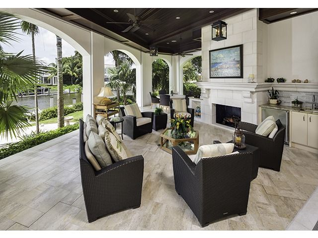 Outdoor Living Room Fireplace Summer Kitchen Coastal Naples Luxury Home Specialist Melinda G House Designs Exterior Outdoor Living Outdoor Living Space