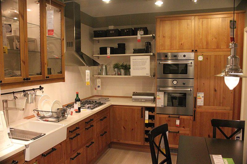 kuchnia w bloku ikea  Szukaj w Google  kitchen  Pinterest -> Kuchnia Ecru Z Czarnym Blatem