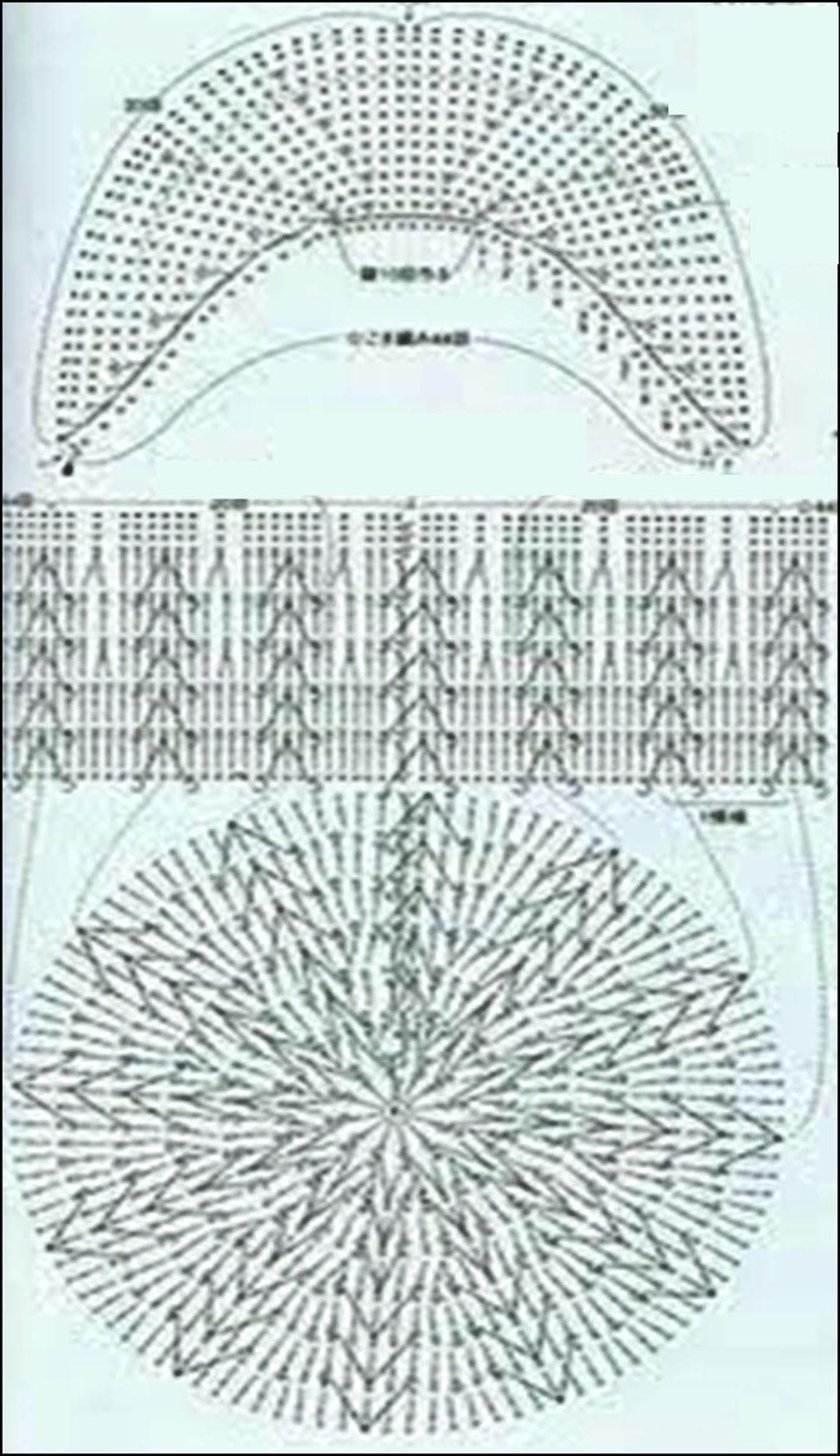 crochet fabric , CROCHET - GANCHILLO - PATRONES - GRAFICOS: GORRITOS ...