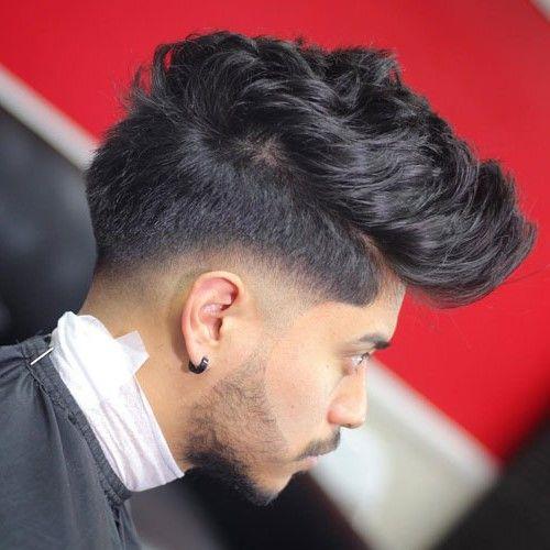 Thick Quiff With Mid Skin Fade Drop Fade Haircut Mens Haircuts Fade Low Fade Haircut