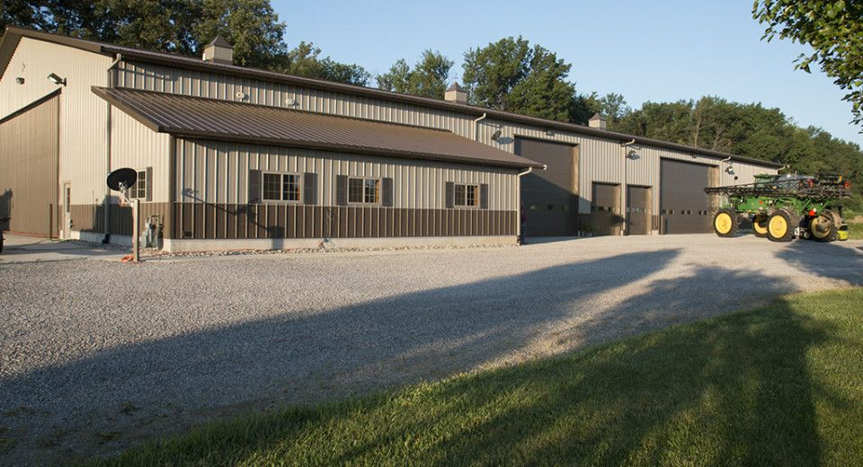 Morton Buildings Machine Storage and Shop Combination in