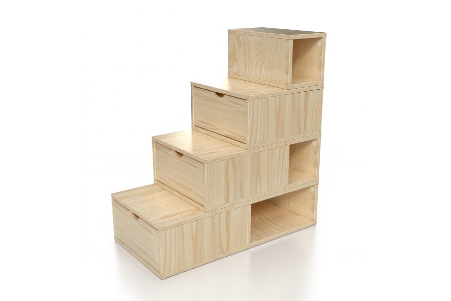 Escalier Cube de rangement hauteur 100 cm   Cube rangement, Rangement hauteur, Cube de rangement ...
