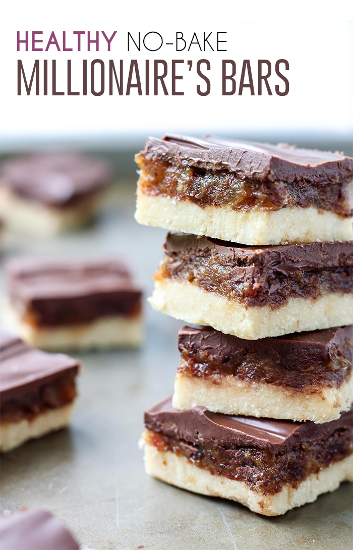 Healthy No Bake Millionaires Bars Vegan