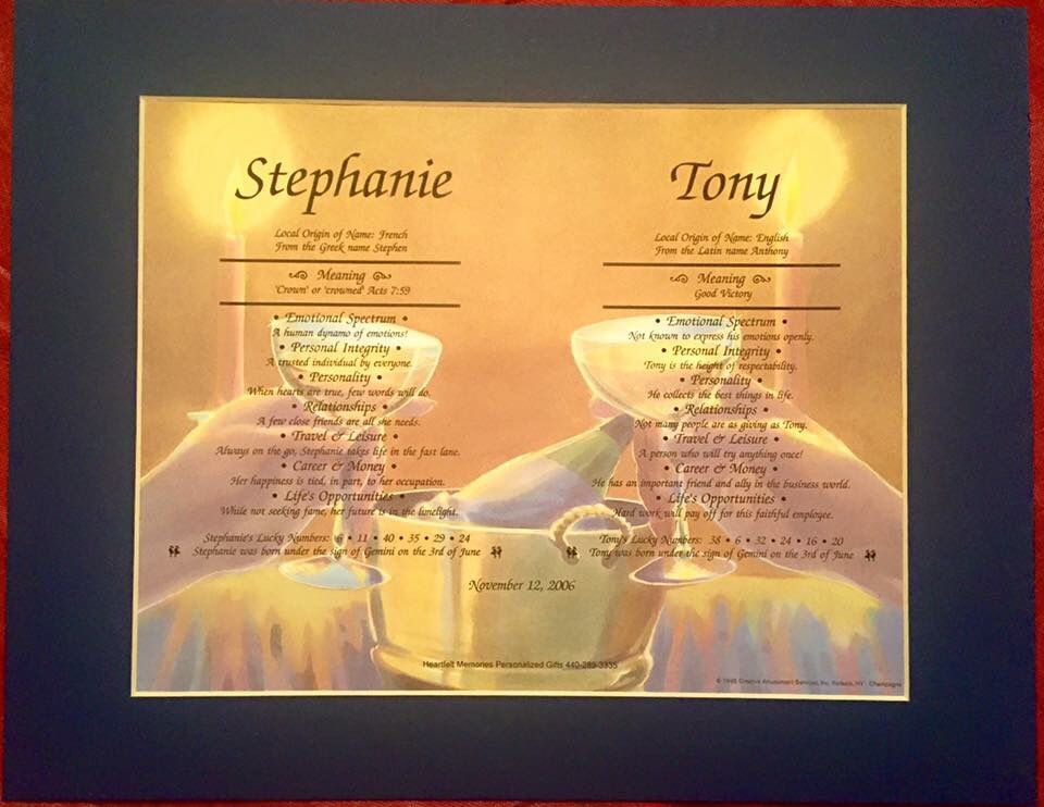 Double Name Meaning Platinum Print W Mat Names With Meaning Personalized Prints Meant To Be