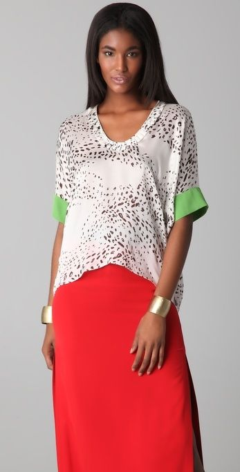 Yigal Azrouel Spotted Tee thestylecure.com