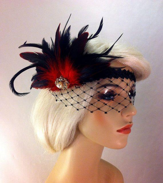 Flapper Headband,1920's Headpiece, Art Deco Headband, Rhinestone Mask ...