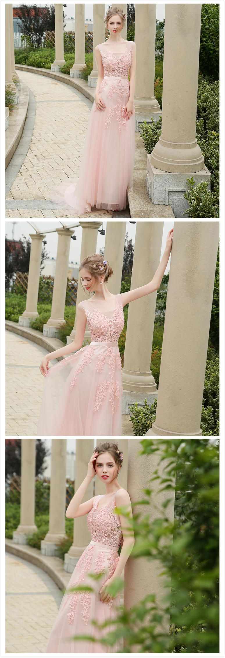 f8dc5012fcb Azbro Women s Floral Lace Paneled V Neck Slim Fit Prom Dress