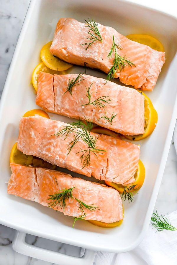 Poached Salmon With Dill Sour Cream Sauce Foodiecrush Com Salmon Pasta Yummy Seafood Salmon Pasta Recipes