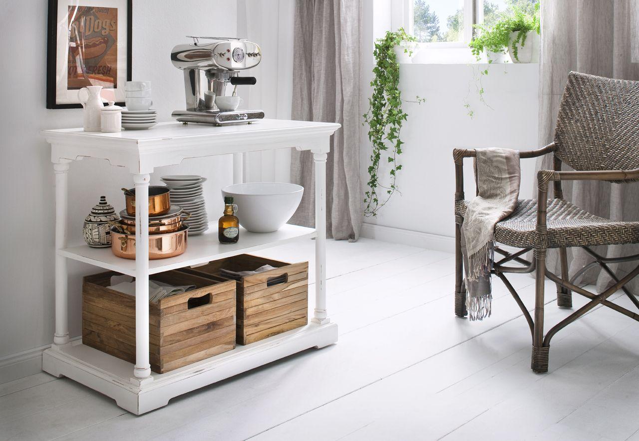 Console 3 Niveaux En Bois Blanc Acajou Avec 2 Caisses En Bois 90x80cm Royan Infos Et Dimensions Largeur Petite Table Cuisine Mobilier De Salon Console Blanc