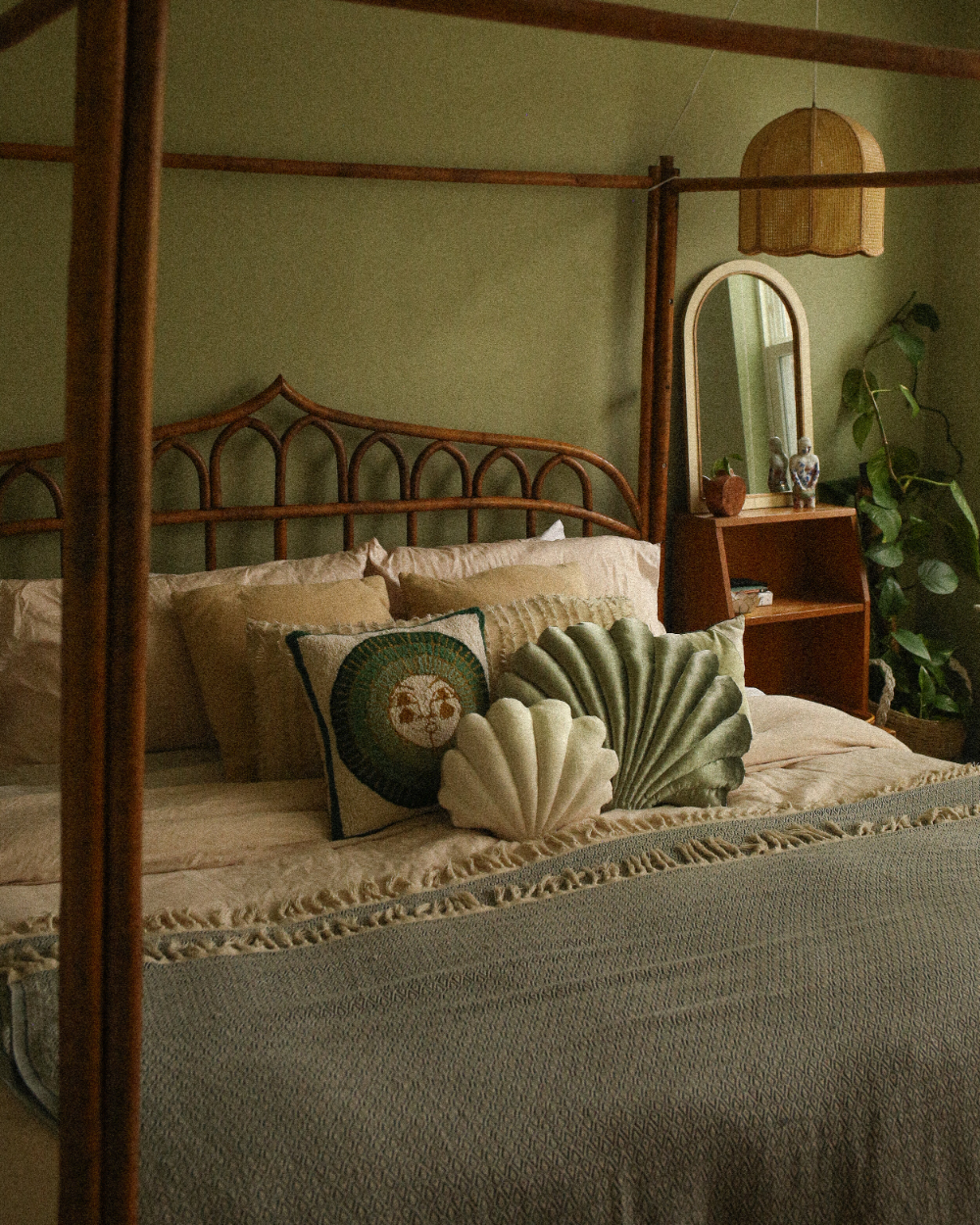 Photo of Calming Green Vintage Bedroom Makeover —  Probably This