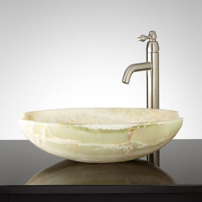 Ceres White Onyx Vessel Sink With Images Sink Glass Bowl Sink