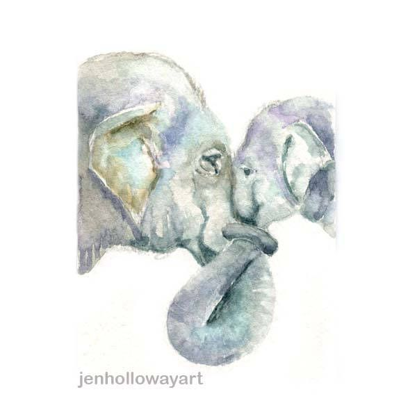Watercolor Elephants Elephants Print Elephants Painting Etsy Elephant Art Elephant Painting Watercolor Elephant