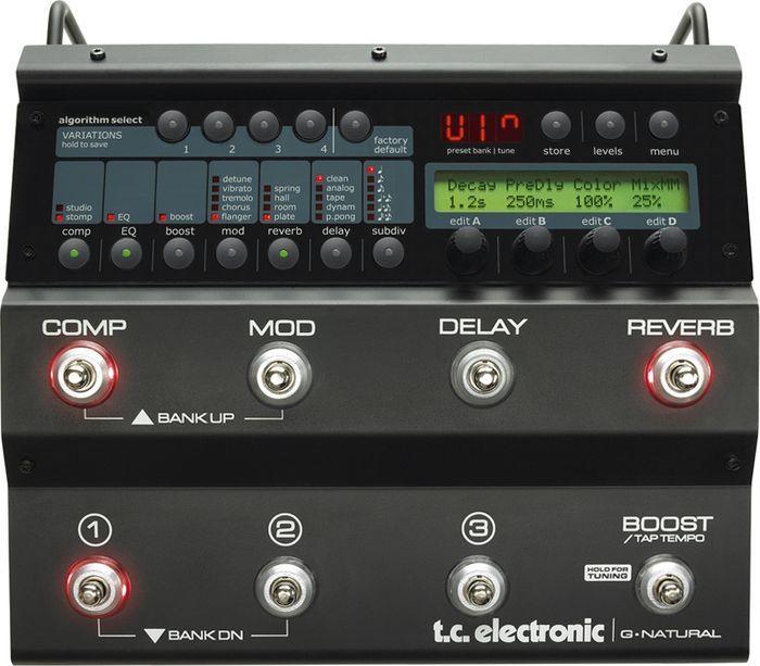 Tc Electronic G Natural Acoustic Guitar Multi Effects Pedal Guitar Multi Effects Pedal Effects Pedals Electronics