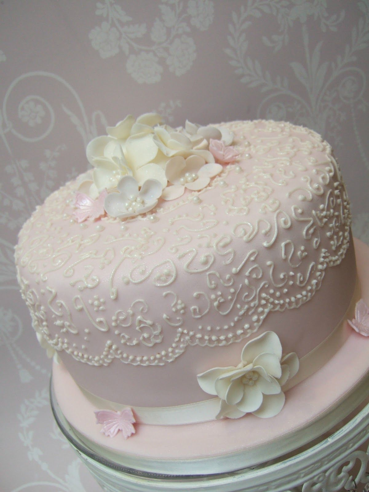 Vintage Birthday Cake Images Elegant Lace Pretty
