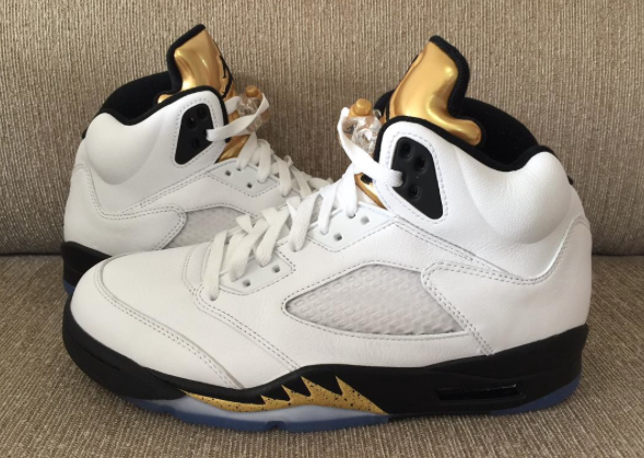 Golden Highlights On The Air Jordan 5 Olympic • KicksOnFire.com 490cc5805