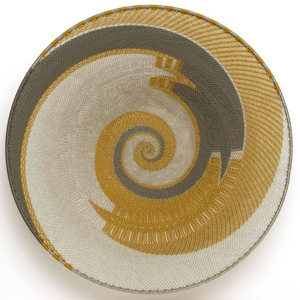 South African Baskets: Telephone Wire Woven Platter, From South Africa