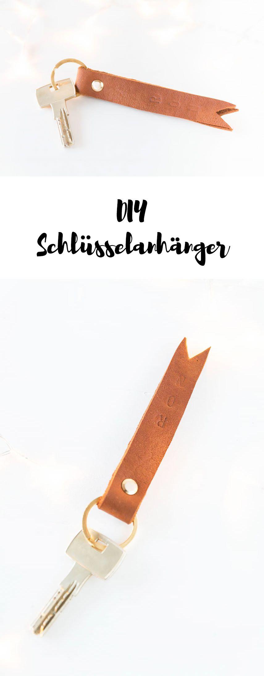 12 Schlusselanhanger Aus Leder Leather Pinterest Diy Diy