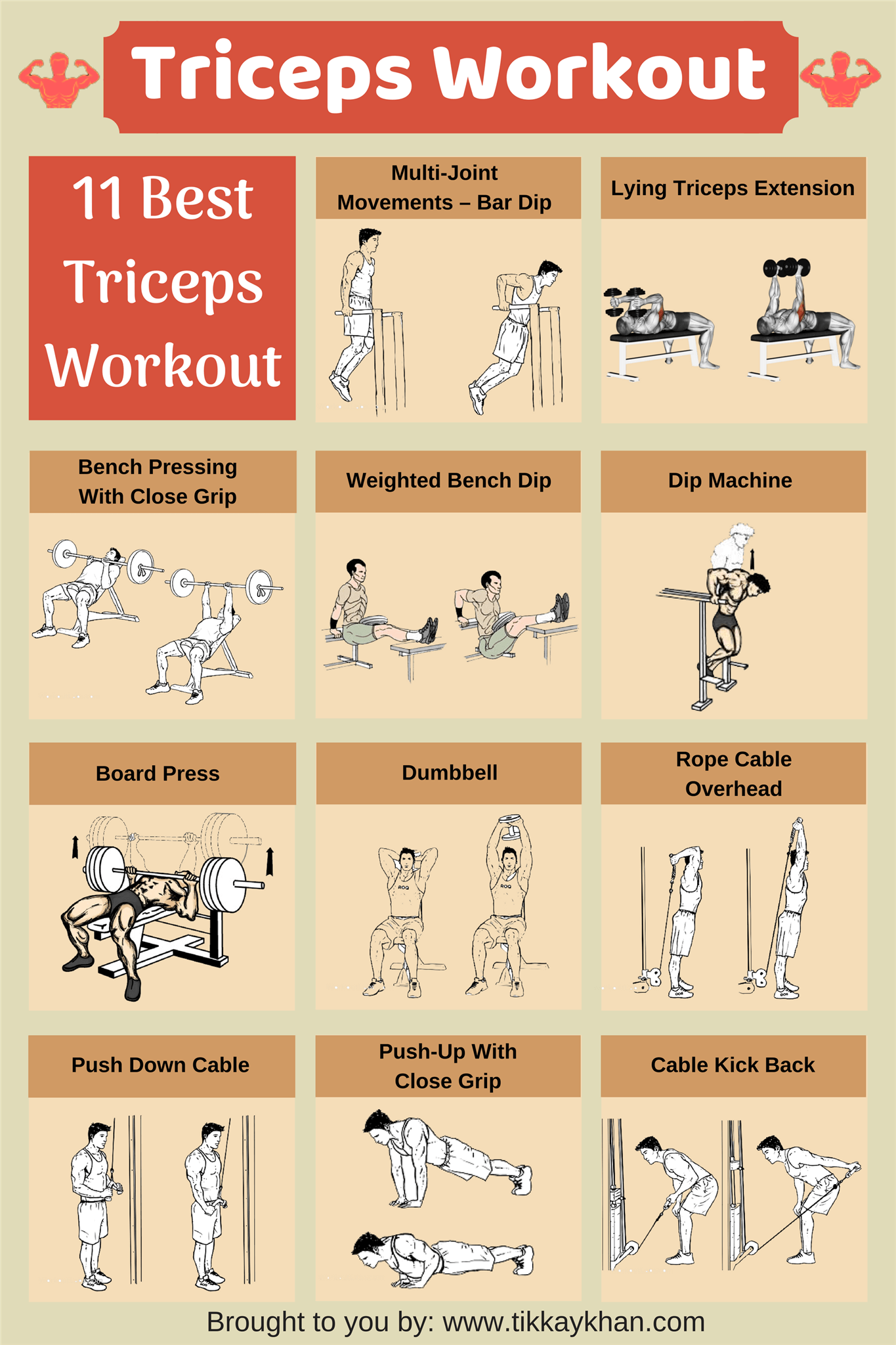 Pin on triceps workout