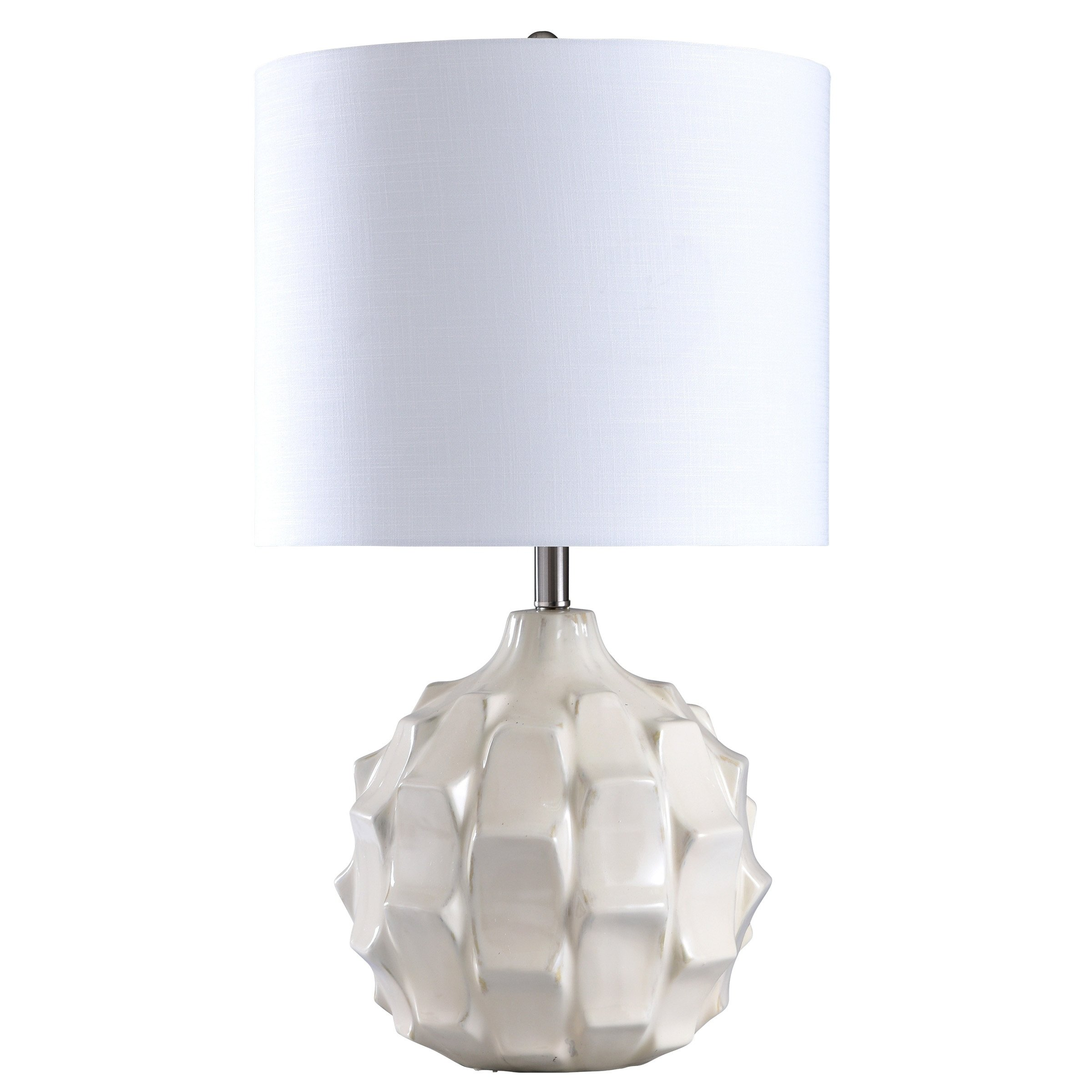 Naxos White Ceramic Table Lamp White Shade In 2019 White Table Lamp Ceramic Table Lamps Table Lamp