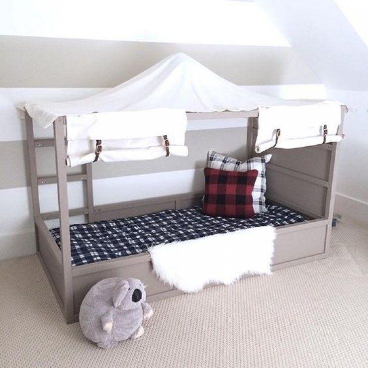 Mommo design 7 amazing ikea kura hacks ikea hacks for Kura bed decoration