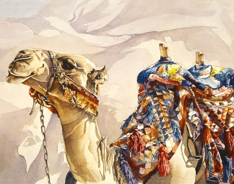 c5d4d543ef Desert Camel watercolor print, now available as large GICLEE-SALE. $25,99,  via Etsy.