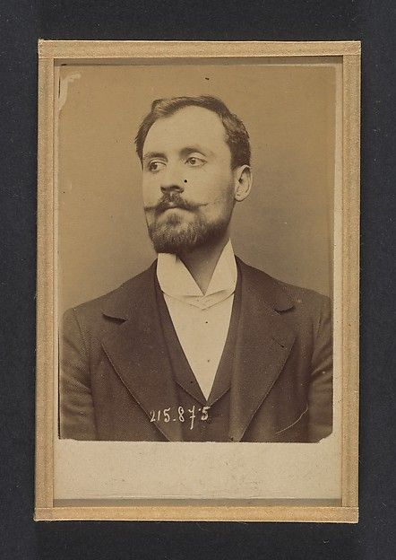 """Alphonse Bertillon (French, 1853-1914). Bertani. Orsini. 24 ou 25 ans, né à Florence (Italie). Sans profession. Anarchiste. 18/3/94, 1894. The Metropolitan Museum of Art, New York. Gilman Collection, Museum Purchase, 2005. 