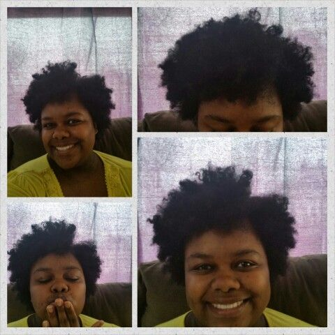 #fluffy #afro #sidepart