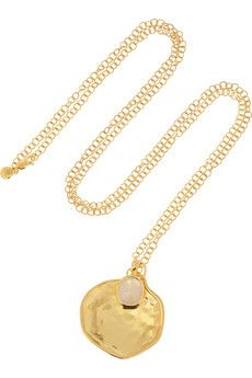Monica Vinader Siren gold-plated moonstone necklace | NET-A-PORTER. I do love a good moonstone