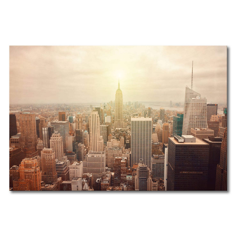 Leinwandbild New York Retro - Leinwand - Braun / Beige, Wandbilder ...