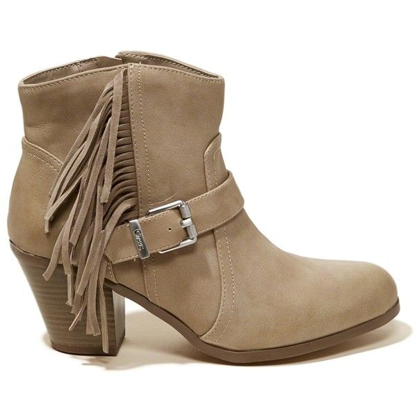 facc3ab52a30a Hollister Circus By Sam Edelman Leah Fringe Bootie (£71) ❤ liked on  Polyvore featuring shoes