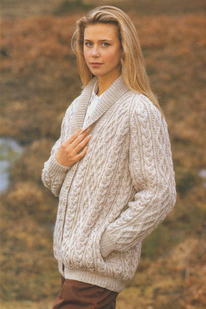 PDF Digital Vintage Knitting Pattern Ladies Raglan Aran Cable ...