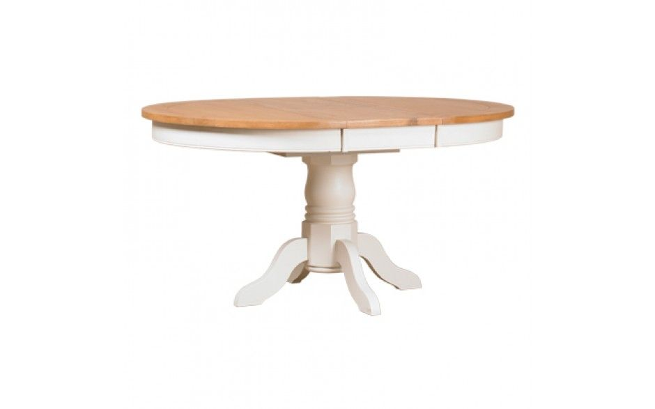 Padstow Off White Painted Round Extending Pedestal Dining Table Magnificent Off White Dining Room Furniture Inspiration Design